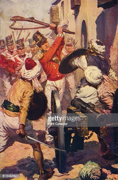Lieutenant Pattinson at the Presence of Karyguam' 1818 In 1818 the 2nd Bombay Grenadiers fought in the Mahratta Wars distinguishing themselves at the...