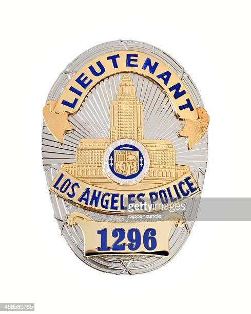 lapd lieutenant's badge - los angeles police department stock pictures, royalty-free photos & images