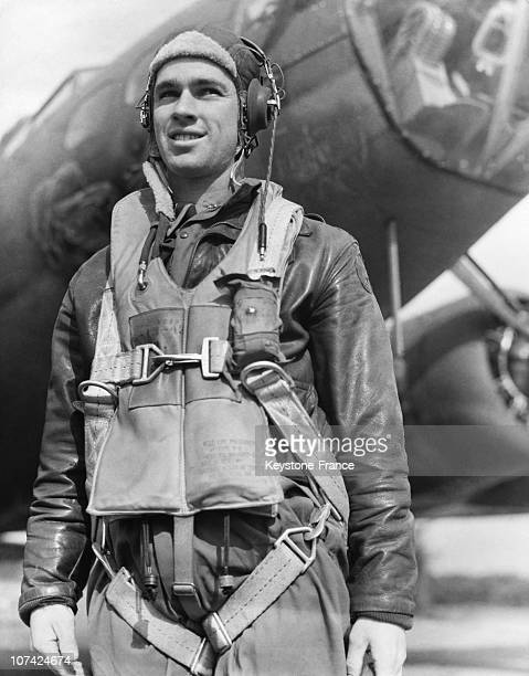 Lieutnant George E Webb Pilot Of The Bombardier Flying Fortress In Usa