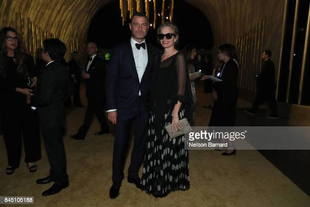 Liev Schreiber and Alexis Bloom attend the 2017 Creative Arts Emmy Awards Creative Arts Ball on September 9 2017 in Los Angeles California