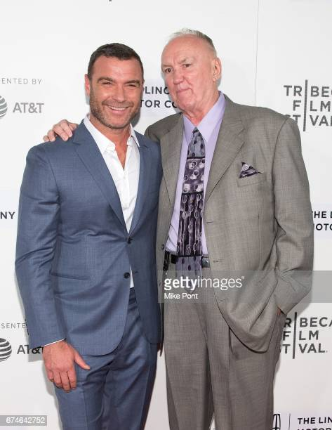 "Liev Schreiber and Chuck Wepner attend the ""Chuck"" screening during the 2017 Tribeca Film Festival at BMCC Tribeca PAC on April 28, 2017 in New York..."