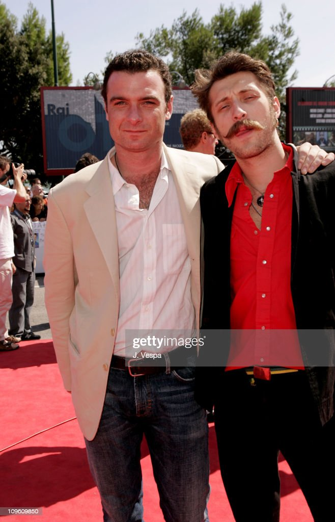 Liev Schreiber and Eugene Hutz during 2005 Venice Film Festival - 'Everything Is Illuminated' Premiere at Palazzo del Cinema in Venice Lido, Italy.