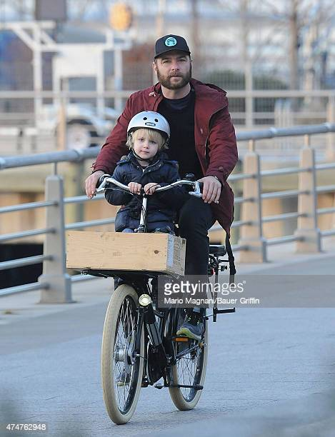 Liev Schreiber and his son Samuel Kai are seen on December 04, 2012 in New York City.