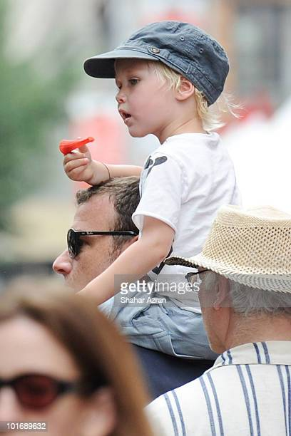 Liev Schreiber and his son Sasha attend the The International Science Festival at Washington Square Park on June 6 2010 in New York City