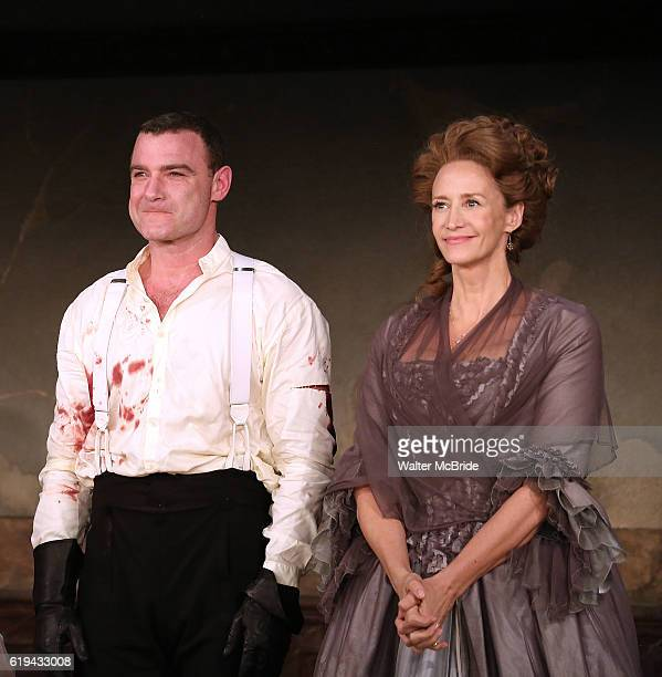 Liev Schreiber and Janet McTeer during the Broadway Opening Night Performance curtain call bows for 'Les Liaisons Dangereuses' at The Booth Theatre...
