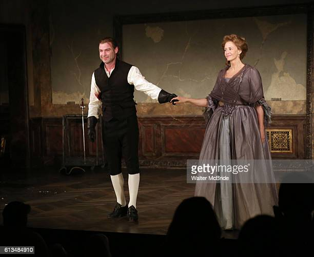 Liev Schreiber and Janet McTeer during the first Broadway preview of Les Liaisons Dangereuses at the Booth Theatre on October 8 2016 in New York City