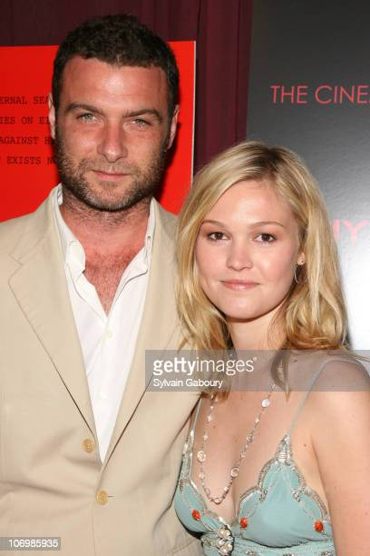 Liev Schreiber and Julia Stiles during The Cinema Society DKNY Jeans present a special screening of 'The Omen' arrivals at Angel Orensanz Foundation...