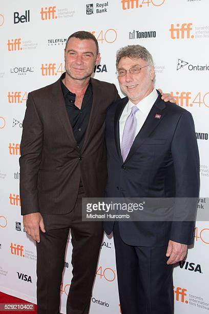 Liev Schreiber and Marty Baron at the Spotlight premiere during the 40th Toronto International Film Festival