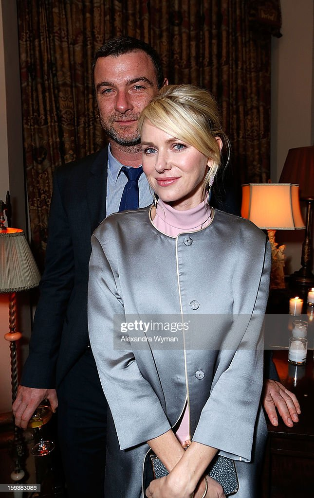 Liev Schreiber and Naomi Watts at Showtime's dinner celebration of The 2013 Golden Globe Nominees held at The Chateau Marmont on January 12, 2013 in Los Angeles, California.