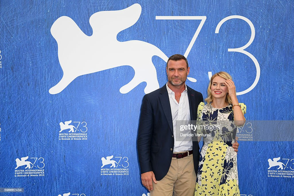 Liev Schreiber and Naomi Watts attend a photocall for 'The Bleeder' during the 73rd Venice Film Festival at Palazzo del Casino on September 2, 2016 in Venice, Italy.