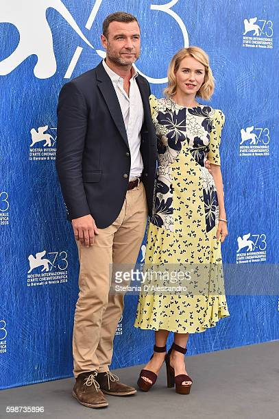 Liev Schreiber and Naomi Watts attend a photocall for 'The Bleeder' during the 73rd Venice Film Festival at Palazzo del Casino on September 2, 2016...