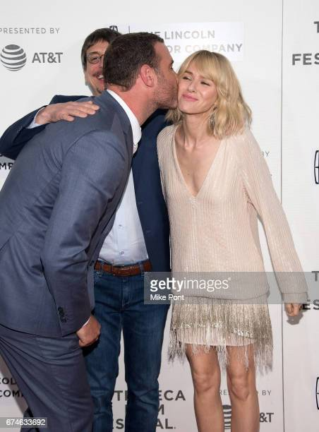 Liev Schreiber and Naomi Watts attend the 'Chuck' screening during the 2017 Tribeca Film Festival at BMCC Tribeca PAC on April 28 2017 in New York...