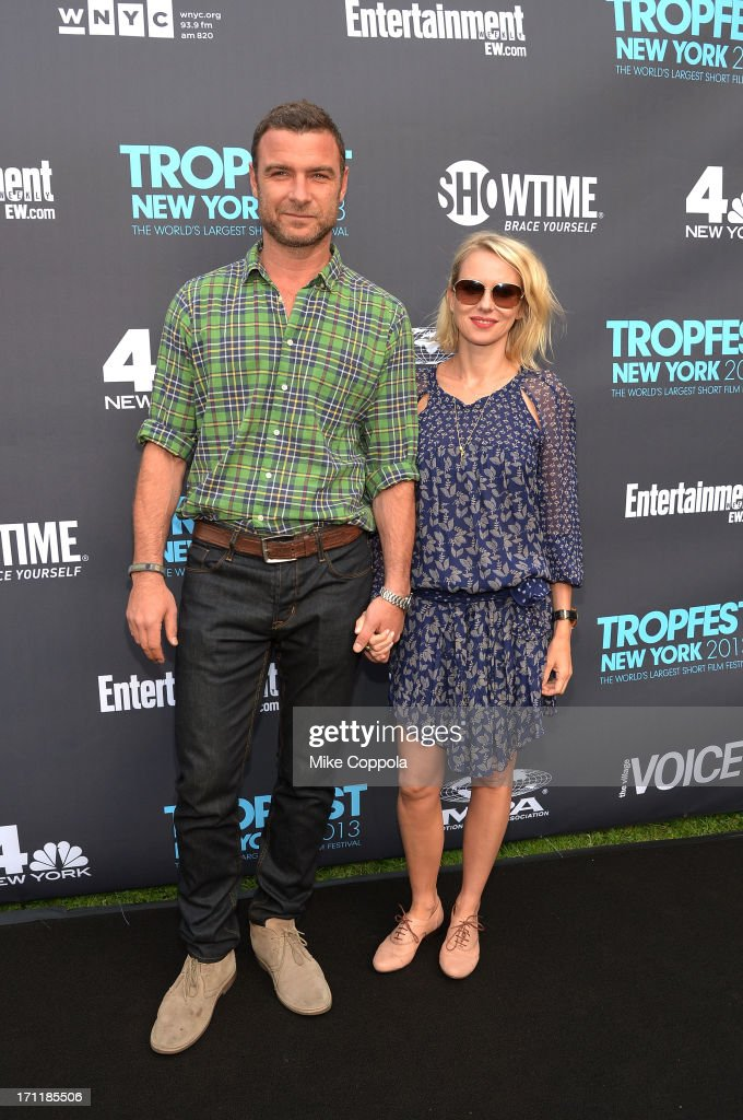Liev Schreiber and Naomi Watts attend Tropfest New York 2013, the world's largest short film festival, at Prospect Park on June 22 in Brooklyn.