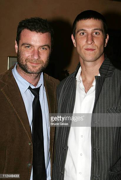 Liev Schreiber and Pablo Schreiber during Dying City New York City Opening Night Arrivals at The Mitzi Newhouse Theater/O'Neills in New York City New...
