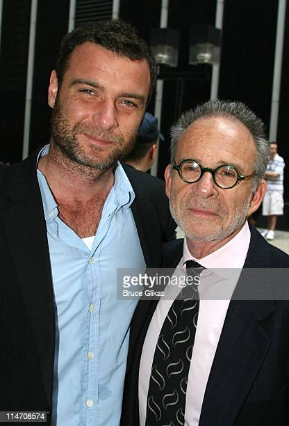 Liev Schreiber and Ron Rifkin during 60th Annual Tony Awards Reunion Photo Luncheon June 1 2006 at Sardi's in New York City New York United States