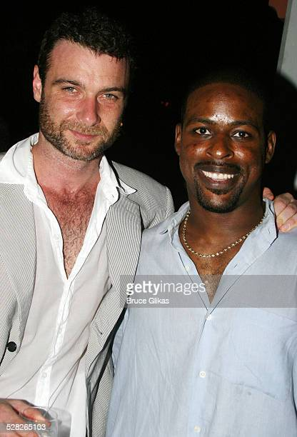 Liev Schreiber and Sterling K Brown during Opening Night Afterparty for Macbeth at The Belvedere Castle in Central Park at The Belvedere Castle in...