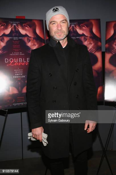 Liev Schreiber attends Cohen Media Group with The Cinema Society host the New York Premiere of Double Lover at Quad Cinema on January 25 2018 in New...