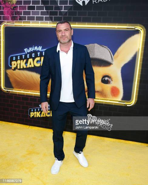Liev Schreiber attends Pokemon Detective Pikachu US Premiere at Times Square on May 02 2019 in New York City