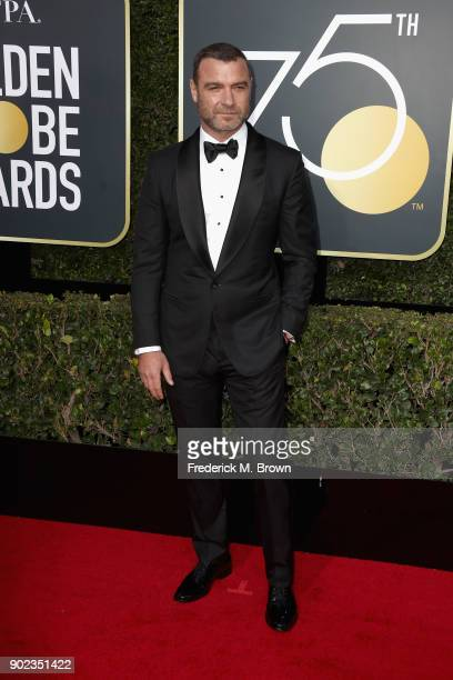 Liev Schreiber attends The 75th Annual Golden Globe Awards at The Beverly Hilton Hotel on January 7 2018 in Beverly Hills California