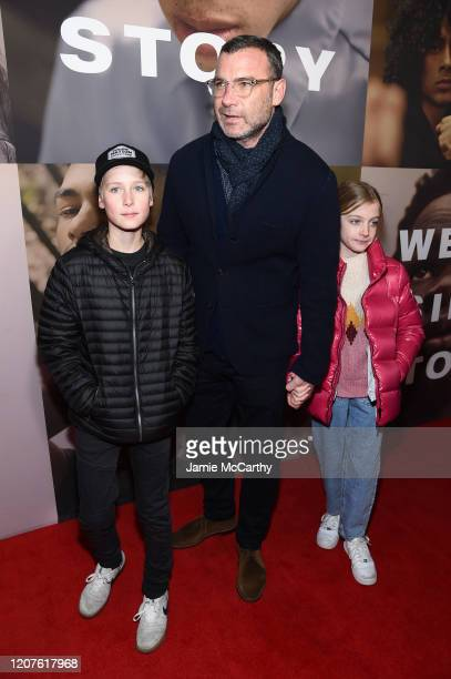 Liev Schreiber attends the opening night of West Side Story at Broadway Theatre on February 20 2020 in New York City