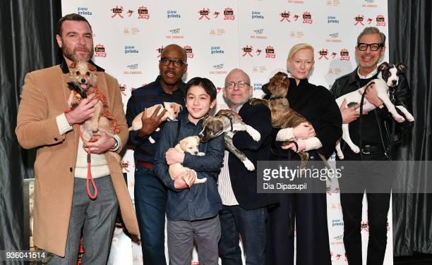 Liev Schreiber Courtney B Vance Koyu Rankin Bob Balaban Tilda Swinton and Jeff Goldblum attend the 'Isle of Dogs' special screening at IFC Center on...