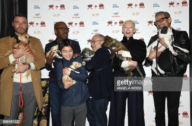 Liev Schreiber Courtney B Vance Koyu Rankin Bob Balaban Tilda Swinton and Jeff Goldblum attend the paw prints special screening of 'Isle of Dogs' at...