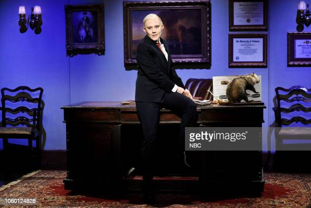 """Liev Schreiber"""" Episode 1751 -- Pictured: Kate McKinnon as Jeff Sessions during the """"Sessions Farewell"""" Cold Open in Studio 8H on Saturday, November..."""