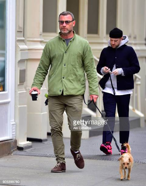 Liev Schreiber is seen in Soho on February 28 2018 in New York City