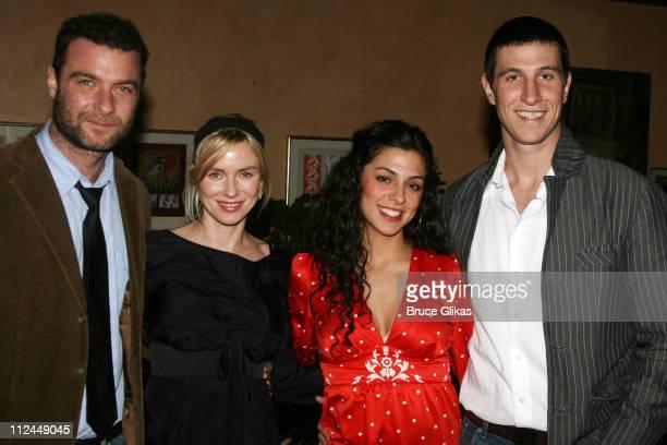 Liev Schreiber Naomi Watts guest and Pablo Schreiber