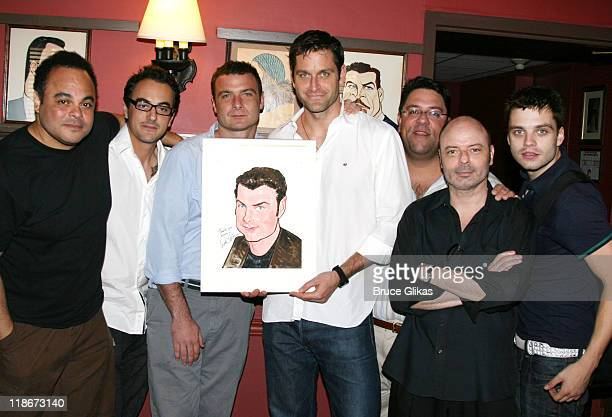 Liev Schreiber, Peter Hermann, Michael Laurence, Adam Sietz, Cornell Womack, Oliver Vaquer and Sebastian Stan