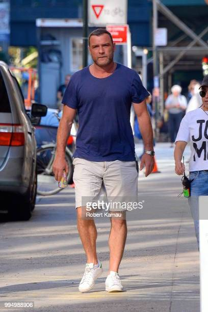 Liev Schreiber seen out and about in Manhattan on July 9 2018 in New York City