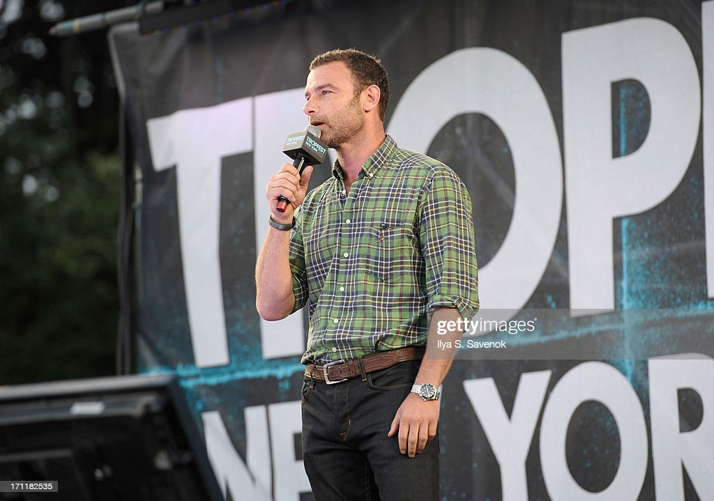 Liev Schreiber speaks at Tropfest New York 2013, the world's largest short film festival, at Prospect Park on June 22 in Brooklyn.