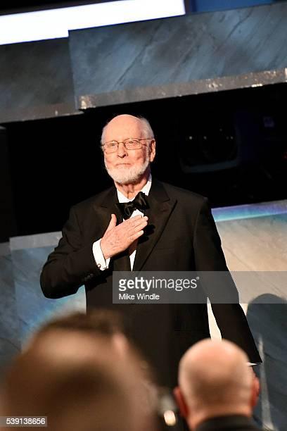 Life Achievement Award recipient John Williams speaks onstage during American Film Institute's 44th Life Achievement Award Gala Tribute show to John...