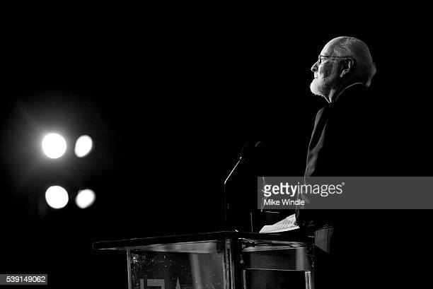 AFI Life Achievement Award recipient John Williams speaks onstage during American Film Institute's 44th Life Achievement Award Gala Tribute show to...