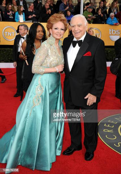Life Achievement Award winner Ernest Borgnine and wife Tova Borgnine arrive at the 17th Annual Screen Actors Guild Awards held at The Shrine...