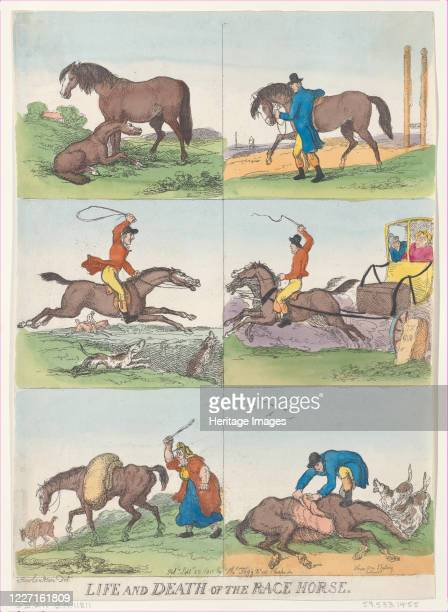 Life and Death of the Race Horse September 25 1811 Artist Thomas Rowlandson