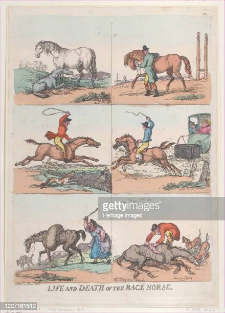 Life and Death of the Race Horse [September 25 1811] reprint Artist Thomas Rowlandson