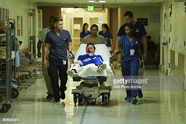 Life and Limb Coverage of the CBS series CODE BLACK scheduled to air on the CBS Television Network Pictured Rob Lowe Nafessa Williams