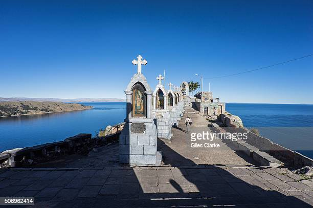 Life around Lake Titicaca the highest navigable lake in the world with a surface elevation of 12507 ft