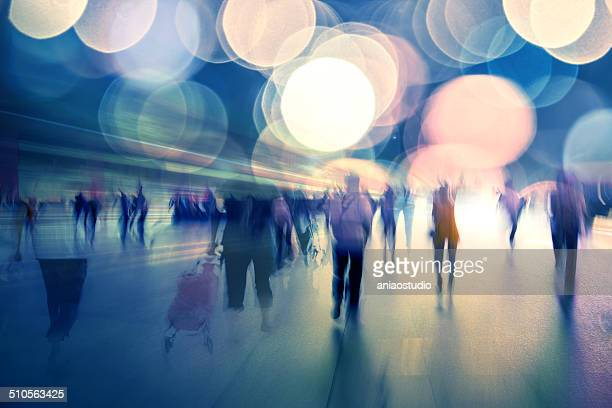 life at night of modern city - motion blur stock photos and pictures