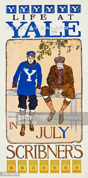 Life at Yale in July Scribner's Magazine Cover by Orson Lowell