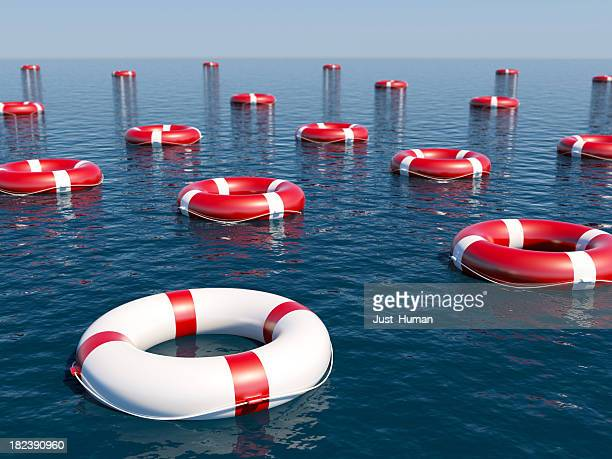 life belt - buoy stock photos and pictures