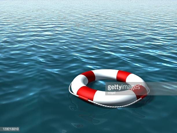 Life Buoy on the sea