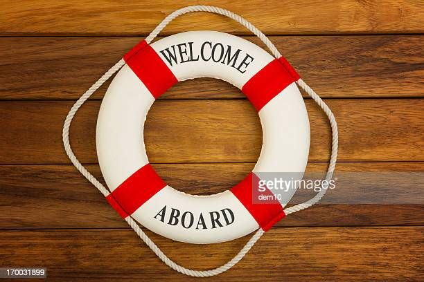 life buoy - welcome stock pictures, royalty-free photos & images