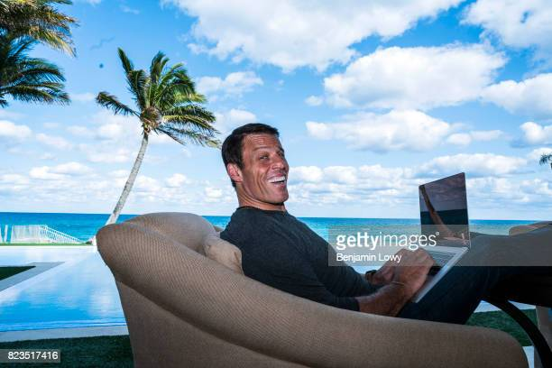 Life coach and business guru Tony Robbins is photographed for Money Magazine on March 17 at his home in Palm Beach, Florida.