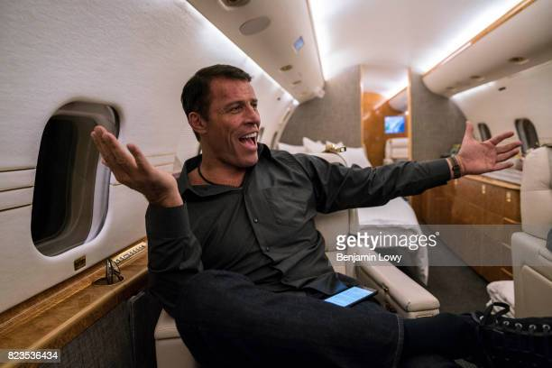 Life coach and business guru Tony Robbins is photographed for Money Magazine on March 17 at his home in Palm Beach, Florida. Robbins squeezing in...