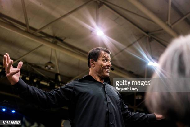Life coach and business guru Tony Robbins is photographed for Money Magazine on March 17 at his home in Palm Beach, Florida. Pictured: Robbins hosts...