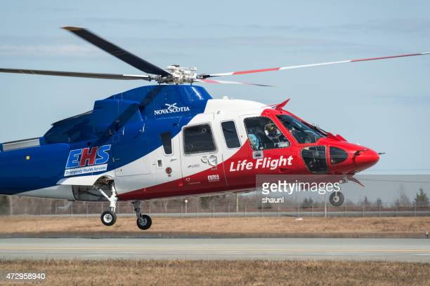 ehs life flight helicopter - medevac stock photos and pictures