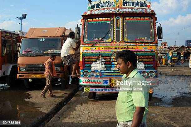 Life gets back to normalcy in Chennai after heavy floods as fishes are packed in icetrays are loaded in trucks to dispatch elsewhere fromKasimedu...