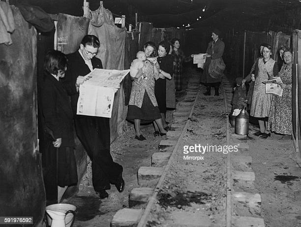 Life goes on as normal for residents of Ramsgate in Kent who take cover from the German air raids in underground tunnels during the Second World War...